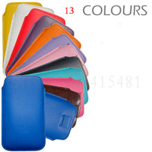 New Pull Up Tab Strap Leather PU phone bags cases 13 colors Pouch Case For Fly IQ239 ERA Nano 2