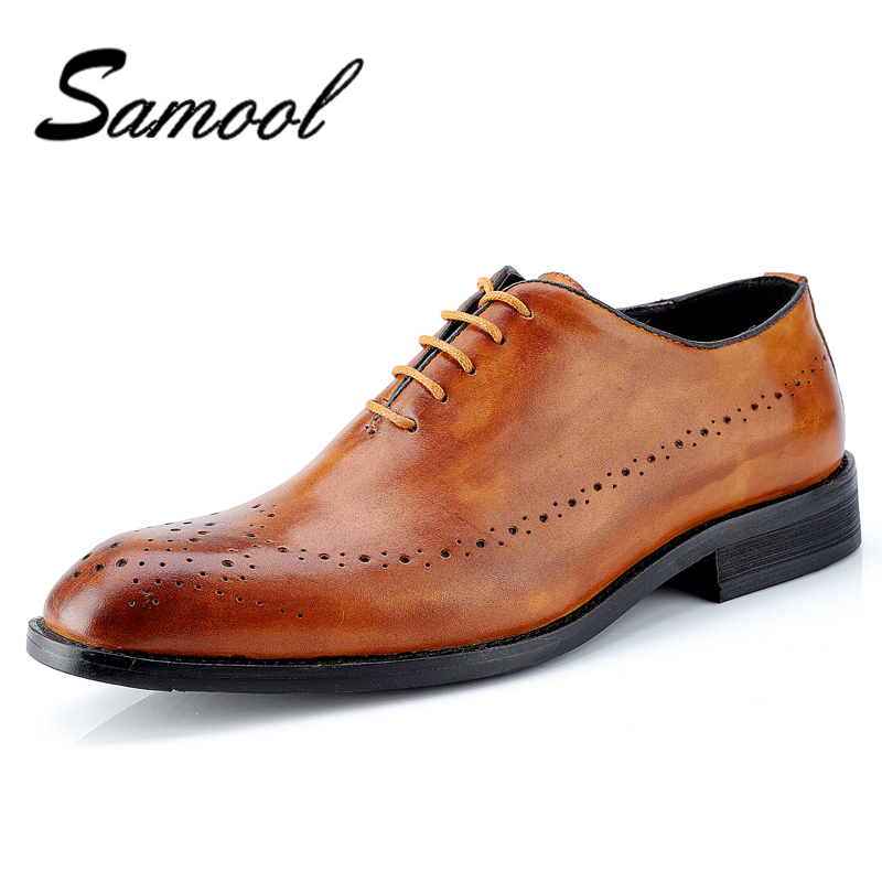 Genuine Leather Men Dress Shoes Pointed Toe Bullock Oxfords Shoes For Men, Lace Up Designer Luxury Men Shoes Plus Size 47 px5