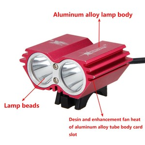 Image 4 - Waterproof USB Bike Light 8000LM 2 X T6 LED Front Bicycle Headlight Dual Lamps for Cycling No Battery