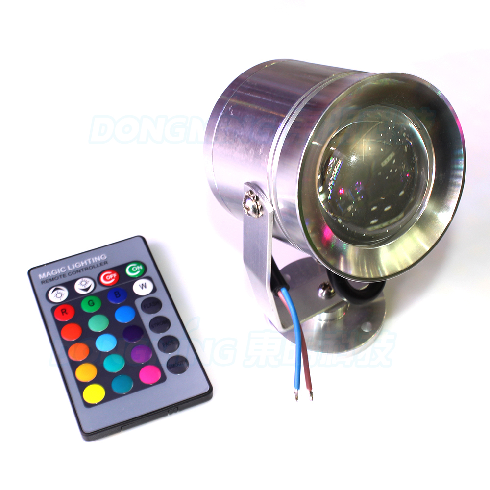 10W 12V underwater Led light RGB Waterproof IP68 white 1000LM pond fountain landscape swimming pool led light remote controller