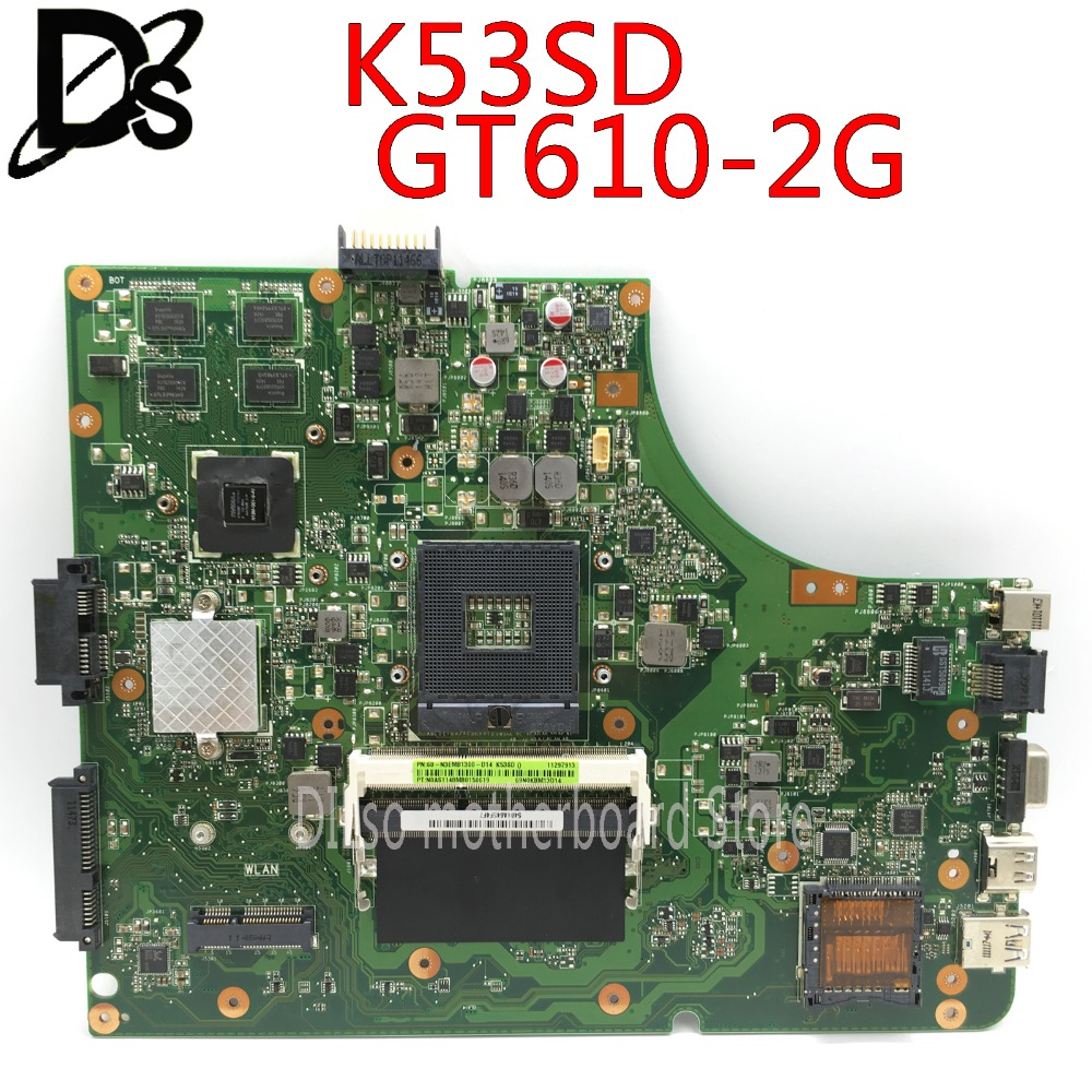 K53SD Motherboard REV5.1 GT610M 2GB RAM For ASUS A53S X53S K53S K53SD K53E K53SE laptop Motherboard K53SDK53SD Motherboard REV5.1 GT610M 2GB RAM For ASUS A53S X53S K53S K53SD K53E K53SE laptop Motherboard K53SD
