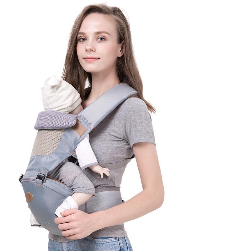 0-36 Mesi Cotone Solid Traspirante Baby Carrier Sling Bambino Sedile Ergonomico Infantile Kangaroo Bambino Seggiolino Da Anca Hipseat Zaino Del Bambino BBL1621