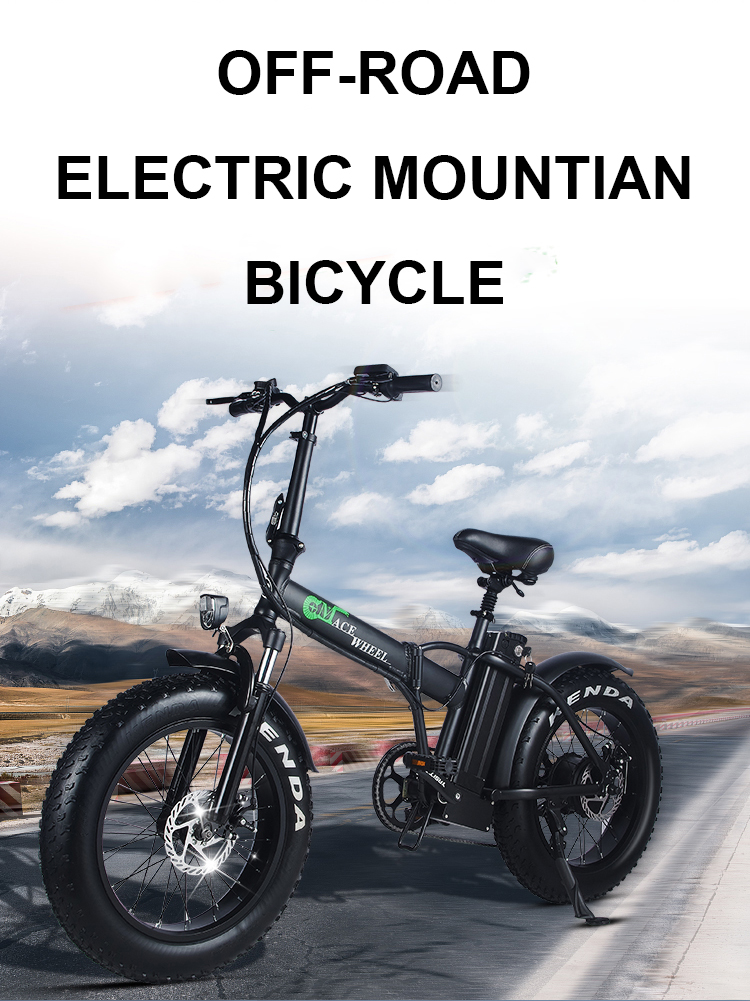 HTB1FhqhacnrK1RjSspkq6yuvXXaO - 20inch electric mountian bicycle 48V 15ah lithium battery 500w rear wheel motor max speed 40km/h range 50-60km snow fat