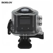 BOBLOV X6S 360 Панорамы Камера Wifi 2448*2448 Спорт Действий Камеры Режим VR 3D Видеокамера с Дополнительной Батареей