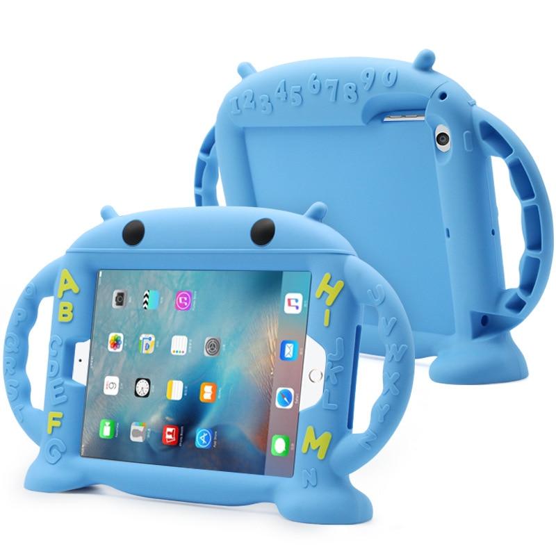 Dla Apple ipad 2 3 4 przypadku 9.7 cal silikonowe etui do iPada 2/3/4 dla dzieci ochronna tylna pokrywa 7.9 cal dla mini ipad 2/3/4 z uchwytem w Obudowy na tablety i czytniki od Komputer i biuro na hyleton Official Store