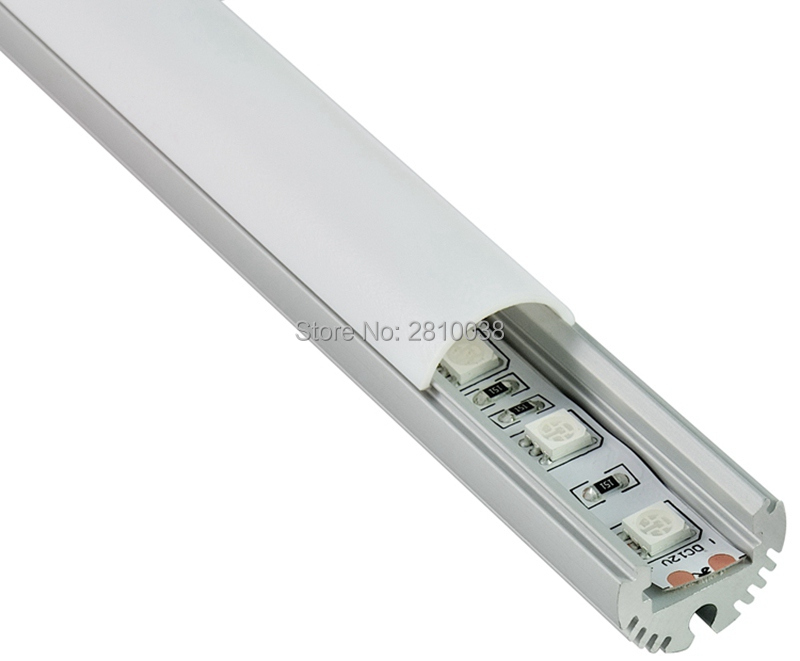 10 X 2M Sets/Lot Round type AL6063 Anodised Led strip light with diffuser and Led strip light track for pendant lighting