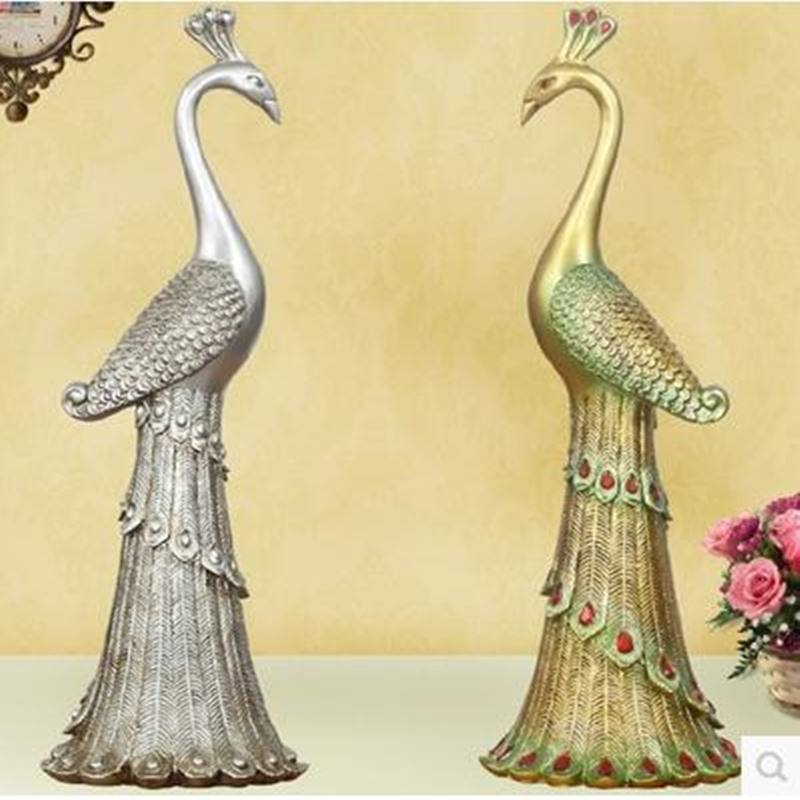 Peacock Wedding Gifts: Peacock Statue, Creative Bird Crafts, Home Decoration