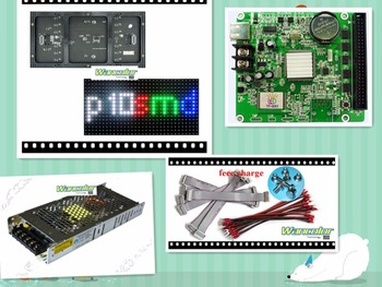 free shipping DIY LED display 20 pcs P10 indoor SMD Full Color Led Module (320*160mm)+1 pc RGB led controller+2pc power supply