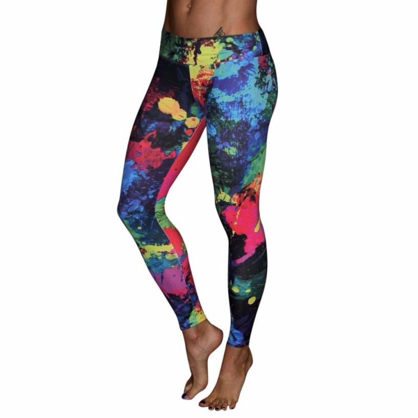Prix pour 2017 Marque Femmes Survêtements de Gym Fitness leggings Mince Coloré de Course Collants Pour Femmes Respirant Yoga Pantalon # YEB