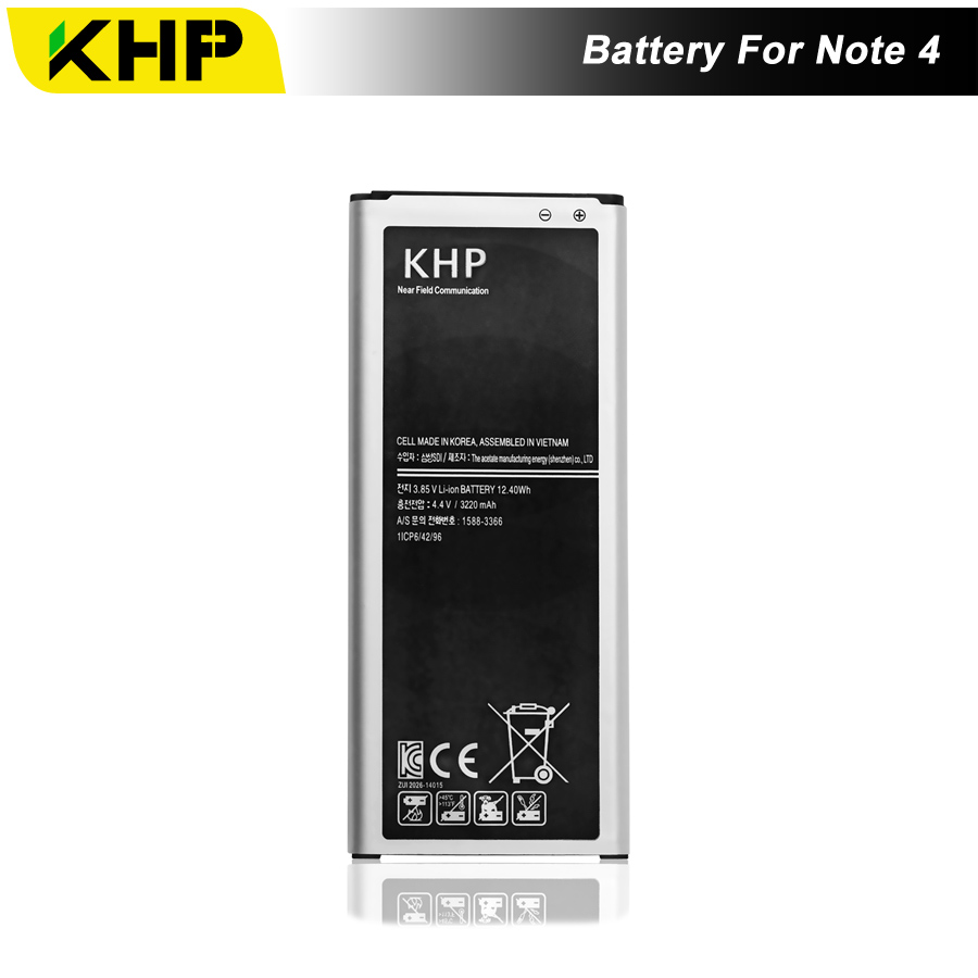 NEW 2017 100% Original Bateria Do Telefone Para Samsung Galaxy Note 4 N910 KHP N910C N910A N910V Substituição Da Bateria Baterias Móveis
