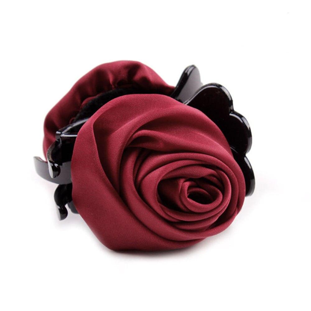 HOT 7 Colors Fashion Korean Brand Hair Clip Rose Hair Claws Clips Hair Acces For Women Girls Hair Crab Clamp Hairpin Headwear