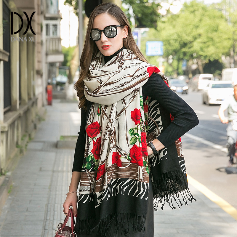 Для женщин зимний шарф Элитный бренд платки Femme мусульманских хиджаб Cachecol пашмины шали и палантины шаль Уход за кожей лица щит платки и пала...