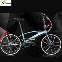 New Brand 20/22 inch wheel aluminum alloy frame double tube Folding bike outdoor BMX bicicletas disc brake bicycle