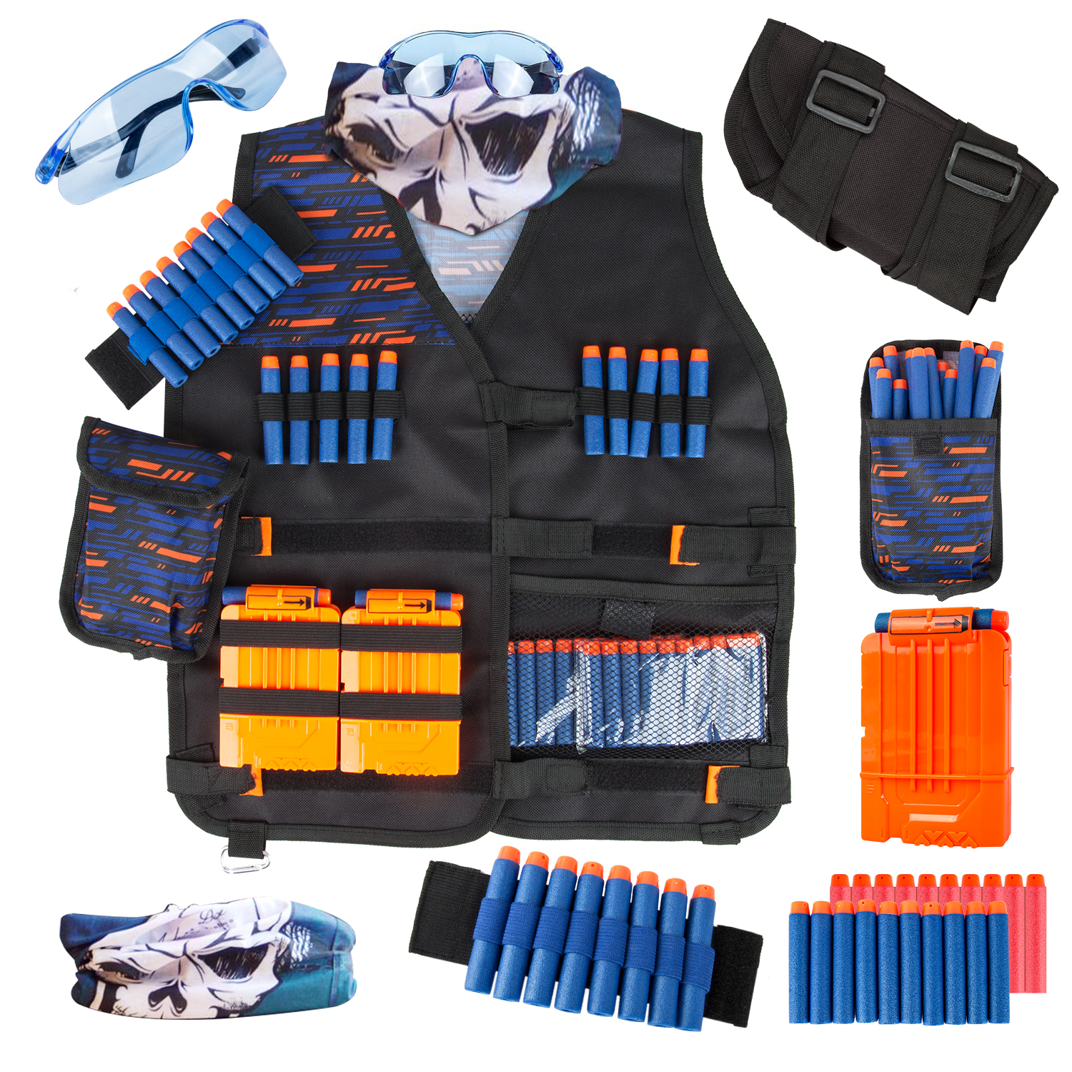 Toy Suit For Nerf Gun Toy Tactical Equipment Gun Shuttle Bullet Magazine Accessories Bullet Clip Compatible Nerf Gun Xmas Gift Toy Guns