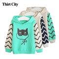 2-7Y Cute Cat Kids Sweatshirts Long Sleeve Boys Girls Hoodies Sweatshirts Children Hoodies Clothing Teen Baby Toddler Tops