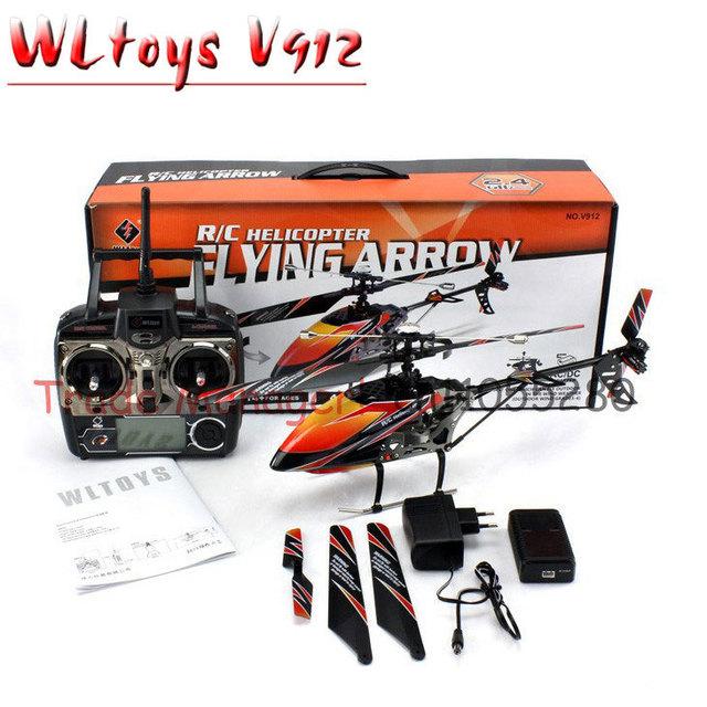Frete grátis Grande brinquedo Wl v912 2.4g 4ch rc Helicóptero, ao ar livre Single-hélice de helicóptero, Aeromodelismo controle remoto