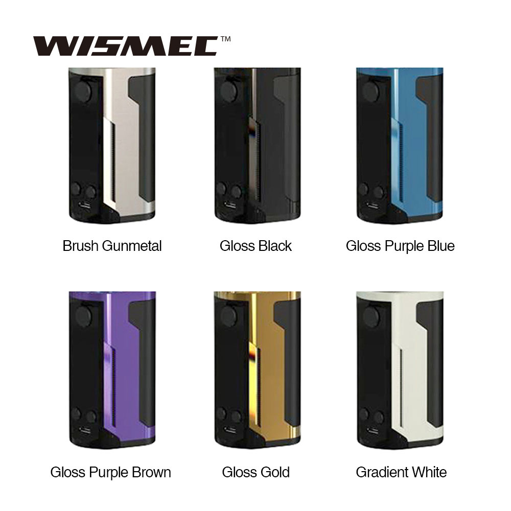 D'origine WISMEC Reuleaux RX GEN3 Double 230 w MOD W/1.3 pouces Grand Écran Max 230 w Sortie mod pour Gnome Roi Réservoir Vs RX GEN3