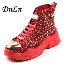 Spring 2019 Casual Male Shoes Fashion Men Riveted Boots Black Red Ankle Mens Motorcycle Punk 4#15/15D50