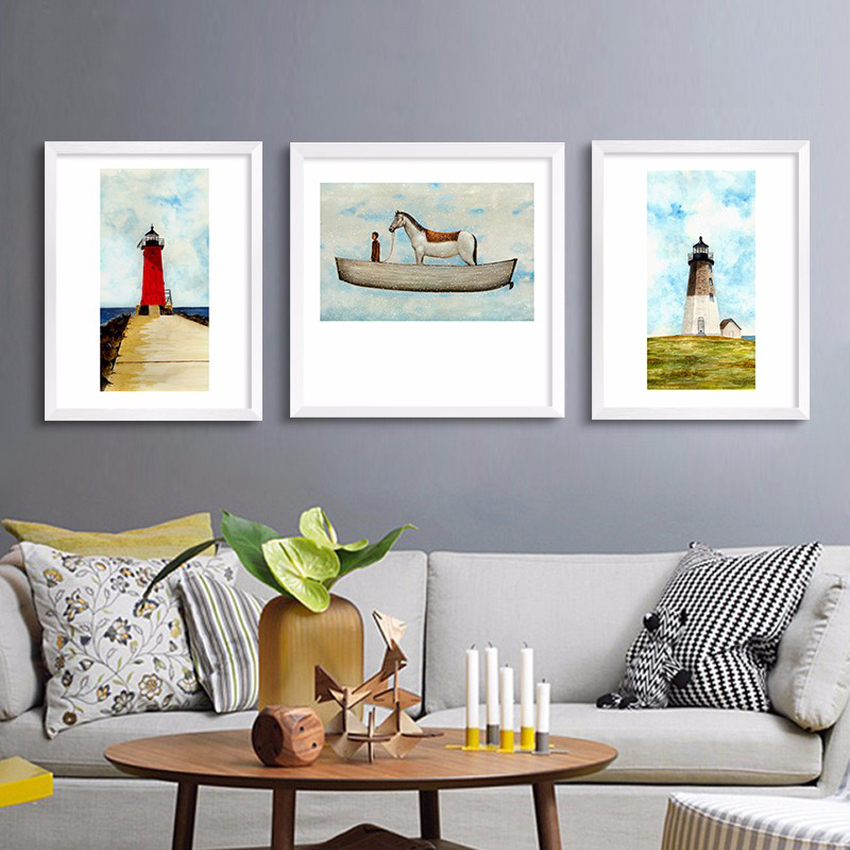3 Pieces modern fashion HD print landscape oil painting on canvas abstract with a idea wall art home decor