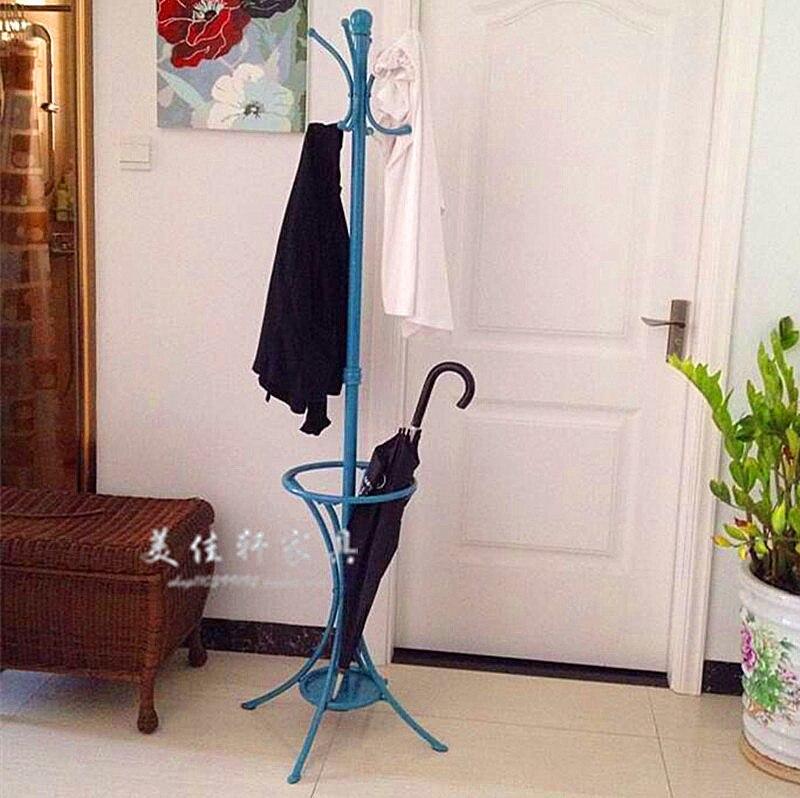American Fashion Wrought Iron Paint Coat Rack Bedroom Hangers Hotel Towel Umbrella Stand Floor In Racks From Furniture On