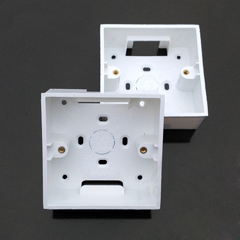 2pcs-30pcs 86 Type Outfit Junction Box Surface Mount Bottom Box Wall Switch Socket Dark Box Trough White PVC