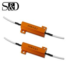 2 Stuks Auto Led Lampen Weerstand Canbus Decoder Load Anti-Knipperende Fout Canceller Adapter Voor Richtingaanwijzer Auto