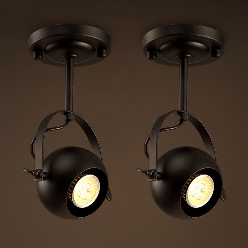 Retro Style Led Ceiling Lights Adjustable Angle Clothing: American Style Industrial Retro Art Deco Led Ceiling