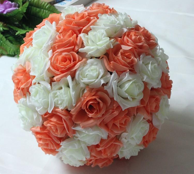 10inch (25cm) Wedding Kissing Balls Pomanders Romantic Silk Flower Kissing Balls Factory Wholesale (11)