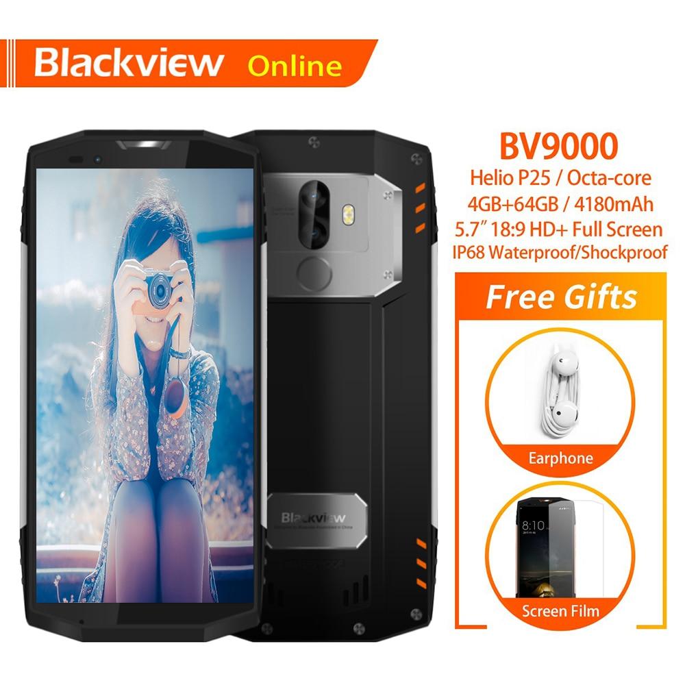 Blackview BV9000 Original 5.7 IP68 Waterproof Smartphone 4GB+64GB Octa-Core 4180mAh 13.0MP 4G Rugged Shockproof Mobile Phone