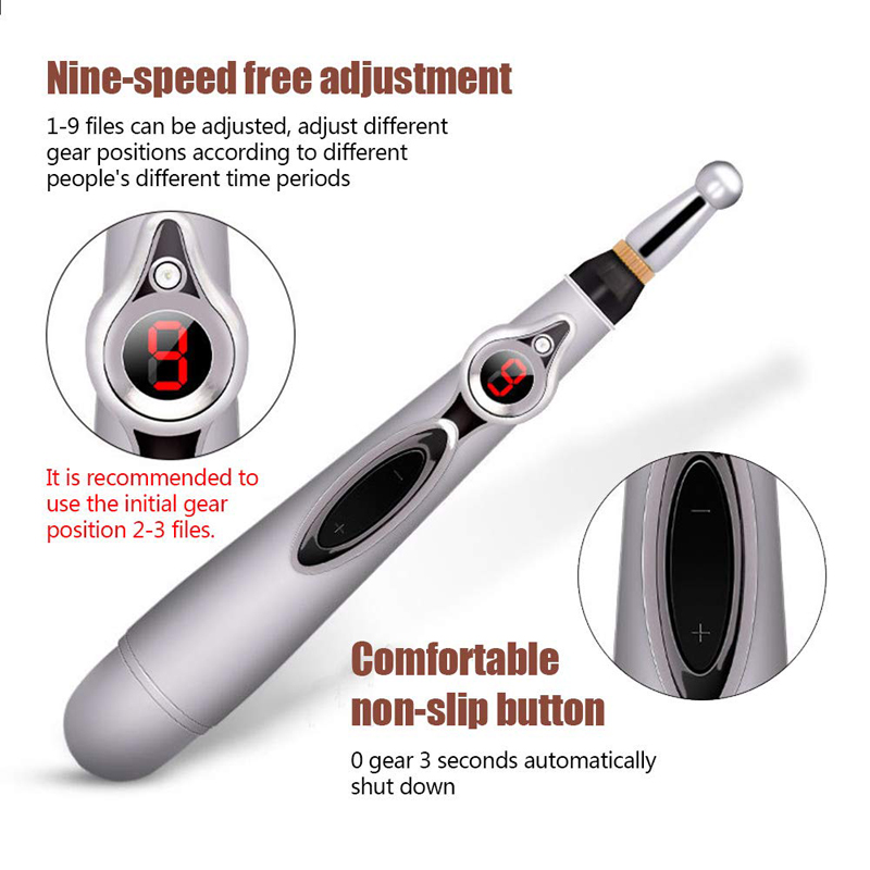 Image 5 - 2019 New Electronic Acupuncture Pen Electric Meridians Laser Therapy Heal Massage Pen Meridian Energy Pen Relief Pain Tools-in Massage & Relaxation from Beauty & Health