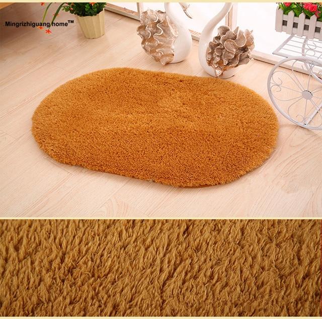 1PC New Plush Carpet Absorbent Soft Door Mats Outdoor Floor Rugs For  Bedroom Oval Anti Slip Baths Toilet Mats OU 107