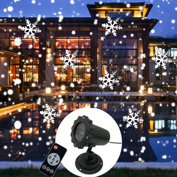 New Mini Snowfall Projector Christmas Lights Outdoor Projector IP65 Moving Head Laser Snow LED Stage Light for Xmas Party Lights new mini snowfall projector christmas lights outdoor projector ip65 moving head laser snow led stage light for xmas party lights