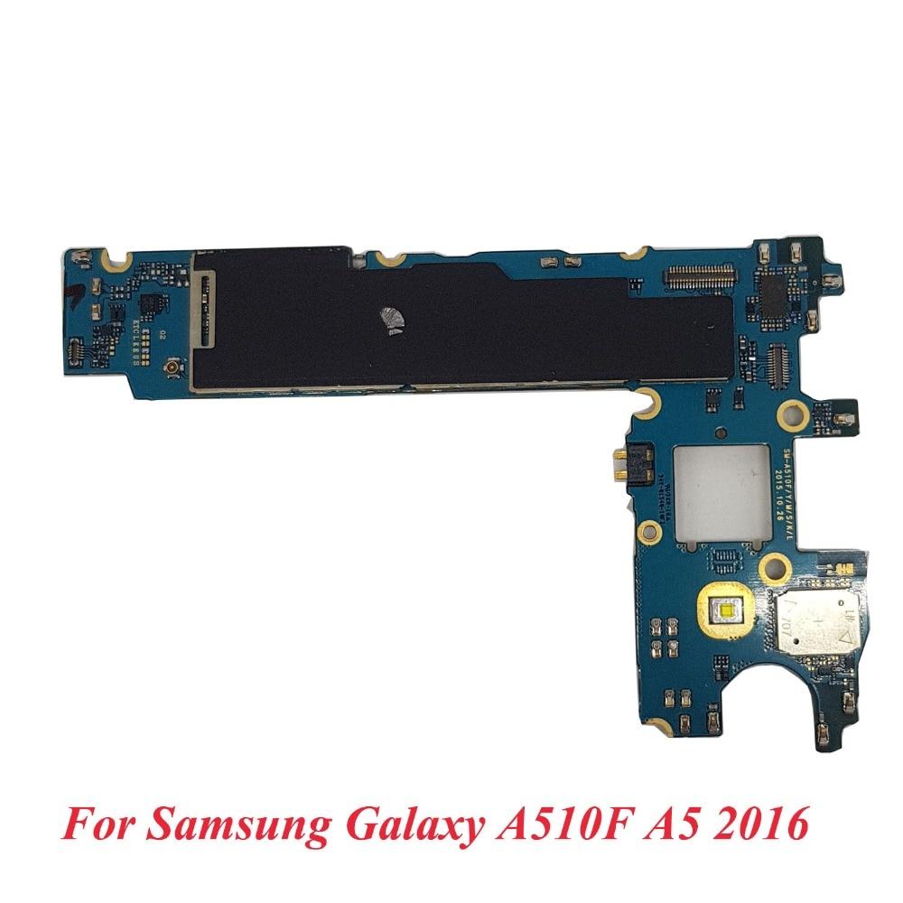 BINYEAE Unlocked Main Motherboard Replacement For Samsung Galaxy A5 2016 A510F 16GB 1 Sim Logic Board