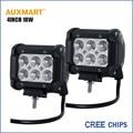 """Auxmart 2 unids Virutas DEL CREE 4 """"18 W Offroad Viga de la Inundación del Trabajo del LED Luz 12 V 24 V camión remolque camper ATV SUV 4X4 4WD LED de Conducción Lámparas"""
