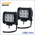 "Auxmart 2pcs  CREE Chips 4"" 18W Offroad Flood Beam LED Work Light 12V 24V truck trailer camper ATV SUV 4X4 4WD LED Driving Lamps"