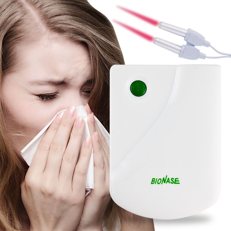 Sinusitis Rhinitis Allergy Cure Low Hay fever Frequency Pulse Laser Health Safe Care Nose Househol Massage Therapy Instrument health care bionase rhinitis sinusitis nose therapy massage device cure hay fever low frequency pulse laser therapentic masseur