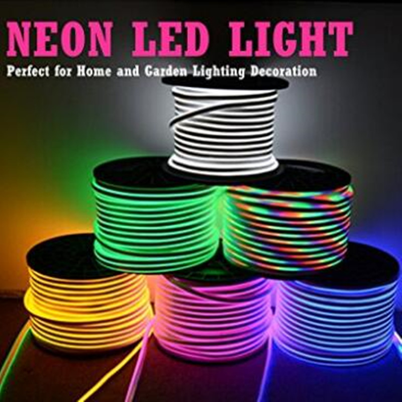 Led Neon Rope Light AC220V 2835 SMD 120led Flexible Light With EU Power Plug Indoor Outdoor Decoration Lighting Free Shipping