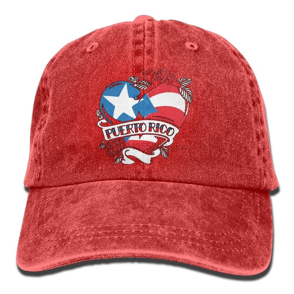 PUERTO RICO Baseball Adjustable Black Hat Cap