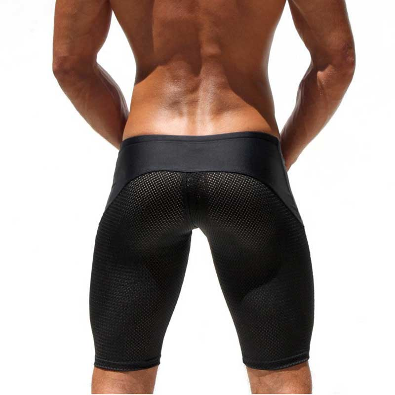Sexy Shorts Men Mesh Casual Shorts Brand Low Waist Trunks Men's Clothes Fitness & Bodybuilding Polyester Spandex Musculation