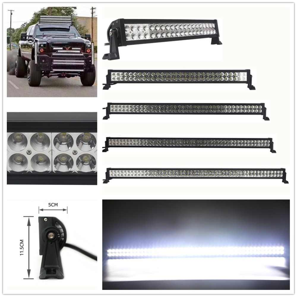 "Straight 52/""Inch LED Work Light Bar Combo Driving OFFROAD SUV 4WD ATV VS 50//42"