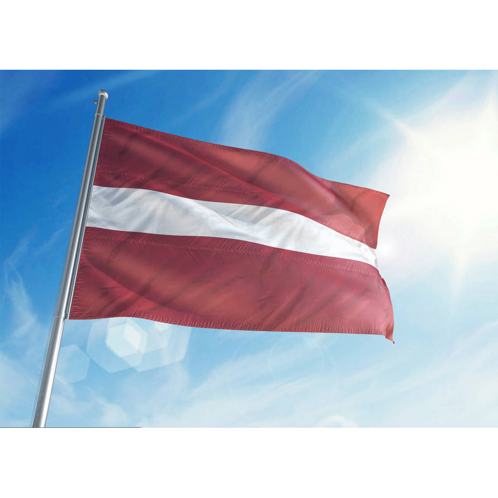 The Good Quality Of The Latvia (LV) Flag Polyester Flag 5*3 FT 150*90 CM All Color Logos