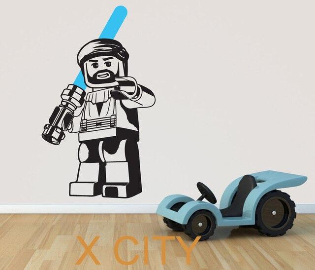 Lego STAR WARS OBI WAN KENOBI Film Art Dinding Decal Sticker Removable Vinyl Transfer Stencil Mural Rumah Room Decor 98 cm x 58 cm