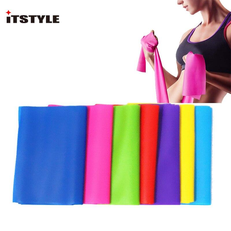 Aspiring Itstyle Elastic Resistance Bands Rubber Stretch Exercise Fitness Yoga Training Yoga Pilates Belt
