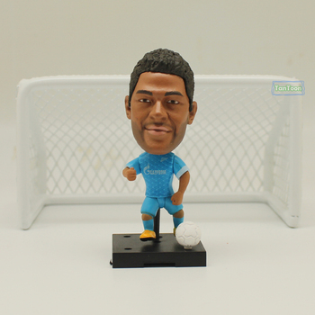 Soccerwe+ Soccer Player Movable Dolls  Zenit 7# Hulk 2.5 Figurine muñeco buffon