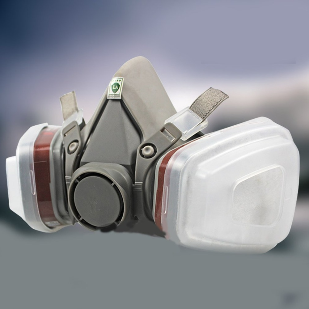Industrial 7-In-1 6200 Half Face Mask Gas Respirator Filter For Painting Spraying Work Safety Masks Professional protection Mask 7 in 1 7502 half face mask dust gas chemical respirator dual filter for spraying painting organic vapor chemical gas safety