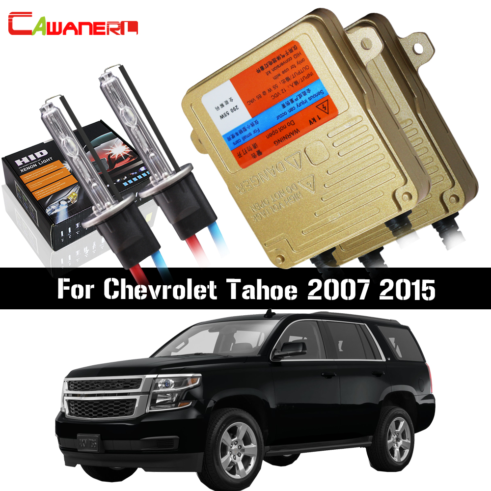 Cawanerl 55W Car Canbus Light HID Xenon Kit Ballast Bulb AC 3000K-8000K Auto Headlight Low Beam For Chevrolet Tahoe 2007 2015Cawanerl 55W Car Canbus Light HID Xenon Kit Ballast Bulb AC 3000K-8000K Auto Headlight Low Beam For Chevrolet Tahoe 2007 2015