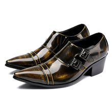 Zapatos hombre oxford hidden high heel shoes for men genuine leather double strap elegant shoes male ponted toe dress shoe цена 2017