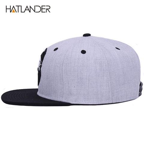 [HATLANDER]Original grey cool hip hop cap men women hats vintage embroidery character baseball caps gorras planas bone snapback Multan