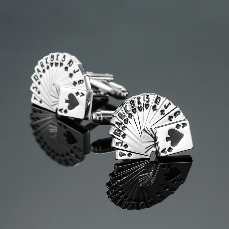18 Mixed Luxury Shirt Cufflink for Mens cross/Poker/stock/dad/wife Brand Design Cuff Buttons cuff links abotoaduras Jewelry