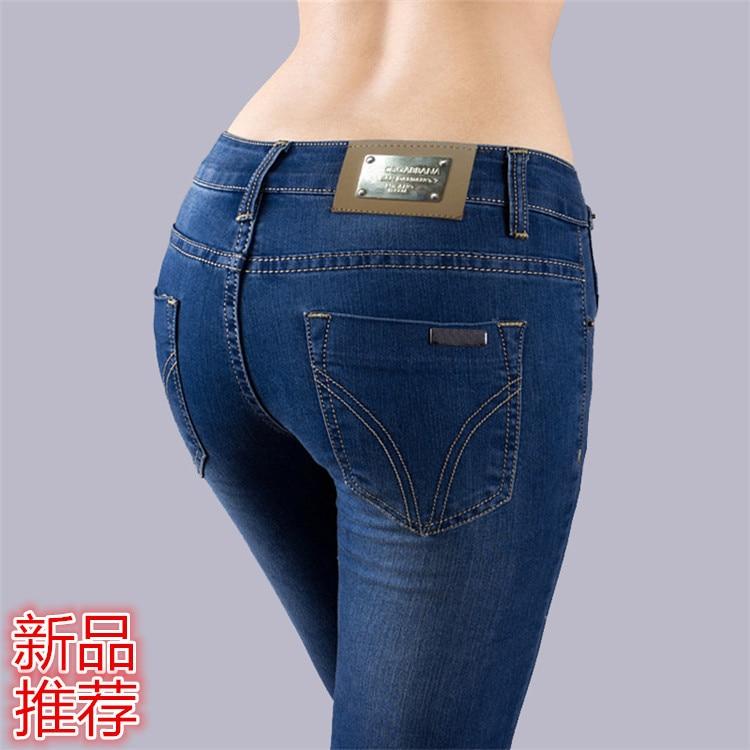 Джинсы женские 2016 новая мода Европейские и Американские женщины носят белые промывают джинсы брюки ноги Тонкие Джинсы